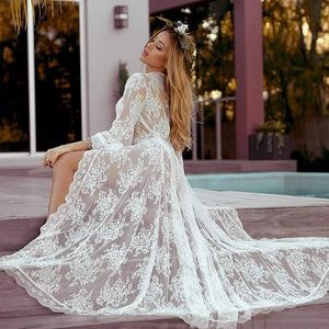 🎀Long White lace robe or beach 🎀